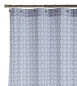pinzon cotton printed shower curtain royal