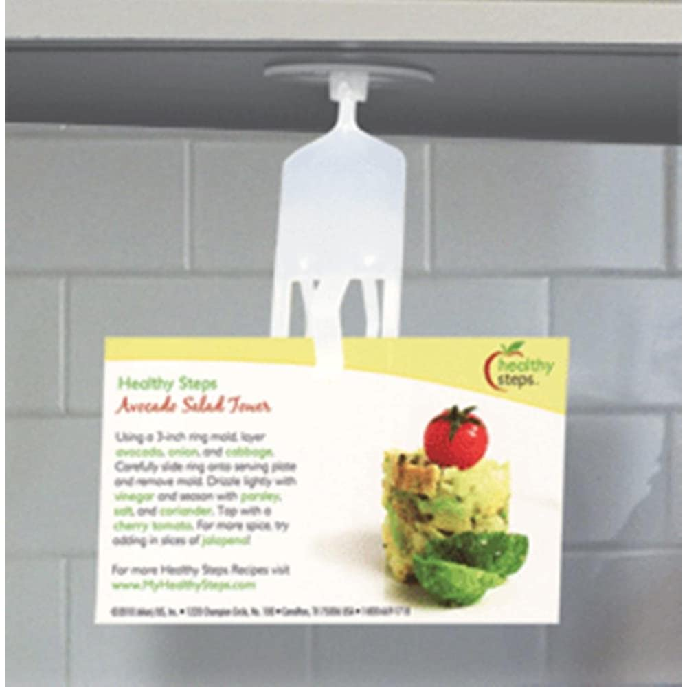 Under Cabinet Recipe Holder by Miles Kimball - Peel-and-stick holder mounts at eye level, beneath cabinet-rotating 360 degrees, so you can read both sides of a recipe card