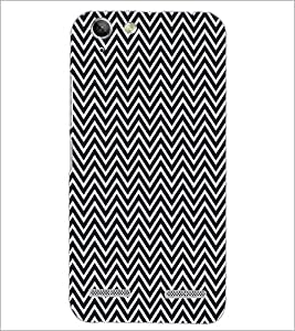 PrintDhaba ZigZag Pattern D-5908 Back Case Cover for LENOVO A6020a46 (Multi-Coloured)