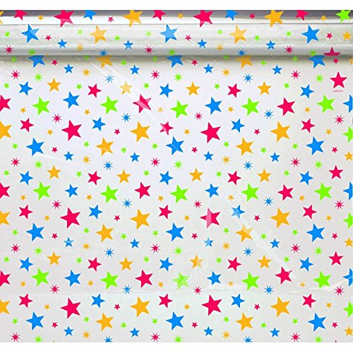 "Amscan Colorful Bright Starts Cello Wrap Party Supplies, 40' x 30"", Multicolored"