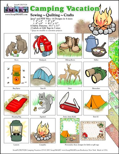 Scrapsmart - Camping Vacation - Clip Art Software Collection - Jpeg & Pdf Files For Mac [Download]