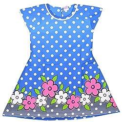 Rush Me Baby Girls' Dress (S.R.1008_6 Years, 6 Years, Royal Blue)