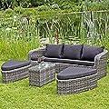 """Sofaset """"Catania"""" - Gartenmöbel Set - Gartengarnitur Rattan - Garten Rattanmöbel Set von TW24 - Gartenmöbel von Du und Dein Garten"""