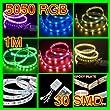 1m RGB 5050 SMD wasserdichte 30 LED Lichtstreifen LED Leiste Lichterkette + 24 Tasten Infrarot Fernbedienung 12V Auto LD48