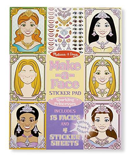 Melissa & Doug Make-a-Face Sticker Pad: Sparkling Princesses - 15 Faces, 4 Sticker Sheets (Sticker Pads compare prices)