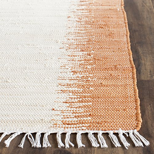 Safavieh Montauk Collection MTK751C Hand Woven Orange Cotton Runner, 2 feet 3 inches by 7 feet (2'3