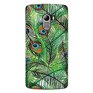 CrazyInk Premium 3D Back Cover for LENOVO K4 NOTE - PEACOCK FEATHER IN AIR PATTERN