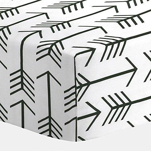 Carousel Designs White and Black Arrow Crib Sheet (Black White Crib Sheet compare prices)
