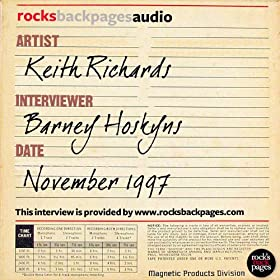 Keith Richards interviewed by Barney Hoskyns