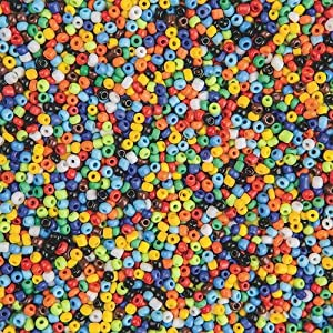 Glass Indian Seed Beads, 1-Lb. (Bag of 5500)
