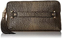 MILLY Astor Metallic Clutch, Gold, One Size
