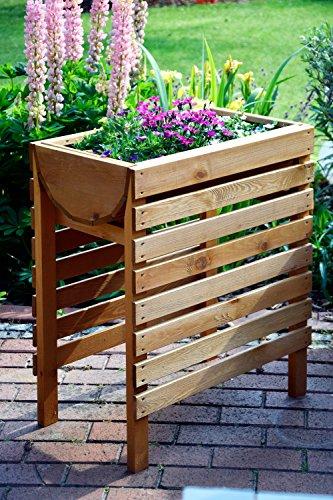 dobar dekoratives hochbeet aus holz kiefer braun f r garten tischbeet bausatz f r gem se. Black Bedroom Furniture Sets. Home Design Ideas