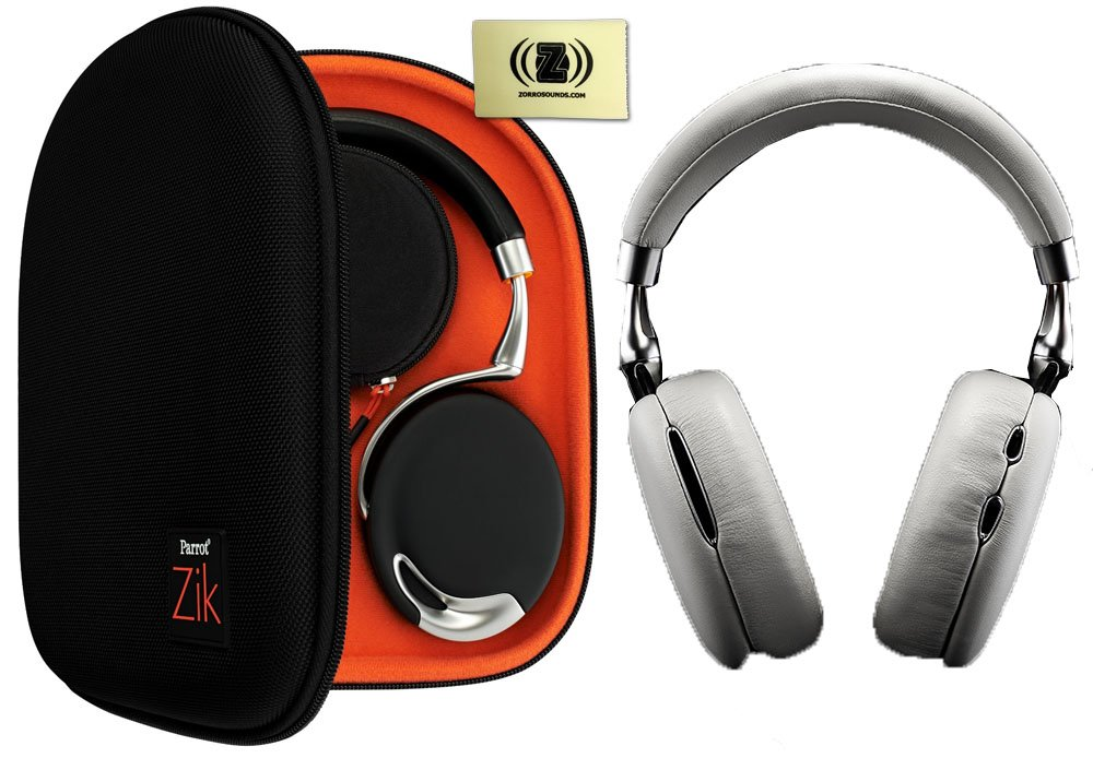 Parrot Zik 2.0 White Wireless Noise Cancelling Headphones Travel Bundle with Case and Polishing Cloth at Sears.com