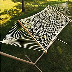 Double Cotton Rope Hammock Without Pillow by ALGOMA NET COMPANY