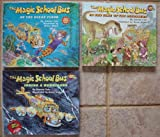 img - for Magic School Bus Set of 3 Hardcover Picture Books (In the Time of the Dinosaurs ~ Inside a Hurricane ~ On The Ocean Floor) book / textbook / text book