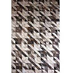 Handmade Natural Cowhide Leather Rug - Mini Watercrafts (5\'x7\' (150cm x 210cm) L Area Rug)