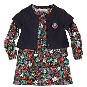 Bóboli Mädchen Kleid (knielang) 455060-9312, Gr. 98, Mehrfarbig (PRINT)