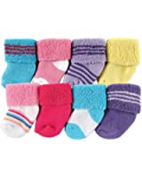 Luvable Friends 8 Pack Newborn Socks