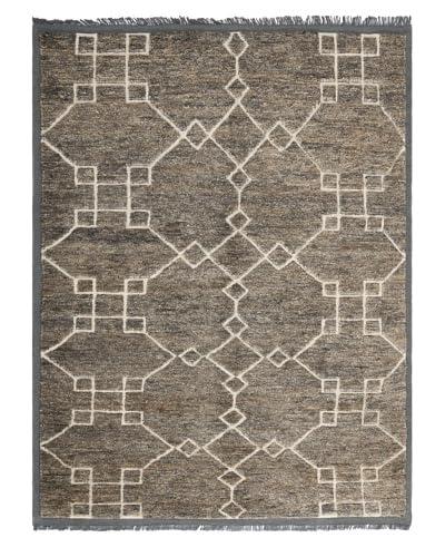 Safavieh Thomas O'Brien Fretwork Diamond Rug, Dark Grey/White, 6' x 9'