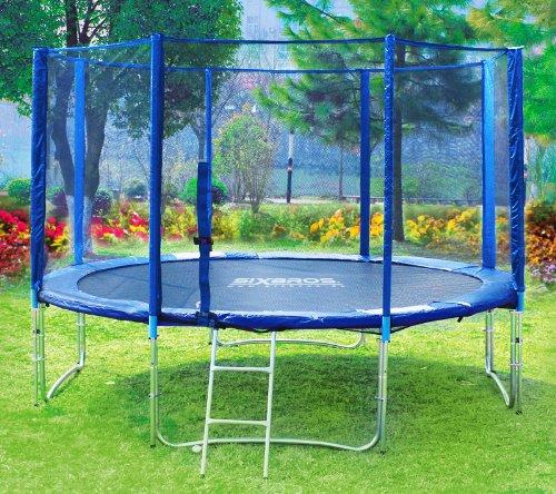 Imagen principal de SixBros. Sport - XXL 4,00m diám. Professional Trampolín de jardín - T400 13FT | escalera | red de seguridad | lluvia cobertura | Modelo 2013