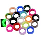36pcs Silicone Ear Gauges Flesh Tunnels Plugs Stretchers Expander Ear Piercing Jewelry 3/4