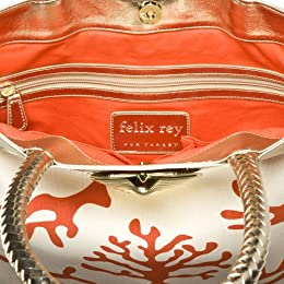 Felix Rey for Target® Printed Tote with Shell - Orange : Target from target.com