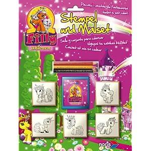 Schauen Sie sich Kundenbewertung für Noris-Spiele 606317374 - Filly Unicorn Stempelspiel Blisterkarte