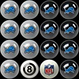 NFL Detroit Lions Home Versus Away Team Billiard 8-Ball Set