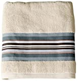 Saturday Knight Madison Stripe Bath Towel, Blue