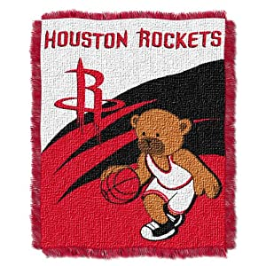 NBA Houston Rockets 36-Inch-by-46-Inch Woven Jacquard Baby Throw by Northwest