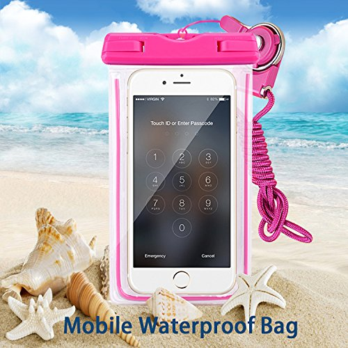 「transocean.Inc」防水ケース iPhone6S/6S Plus/6 Samsung GalaxyS6などに対応 スマホ用防水ケース (pink)