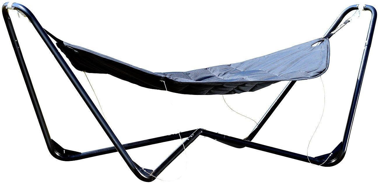 Semptec Urban Survival Technology Semptec Luxus-Hängematte mit Metallständer, gepolstert
