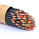 Soucolor 72-Color Colored Pencils, Soft Core, Art Coloring Drawing Pencils for Adult Coloring Book, Sketch,Crafting Projects (72-Colors) (Color: 72-Colors)