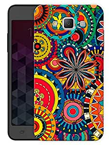 "Humor Gang Abstract Flower Pattern Printed Designer Mobile Back Cover For ""Samsung Galaxy j7"" (3D, Matte, Premium Quality Snap On Case)"