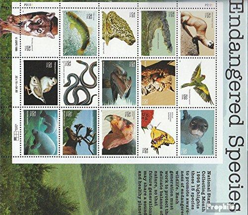 USA 2769-2783 Kleinbogen (kompl.Ausg.) 1996 Gefährdete Tierarten (Briefmarken für Sammler)