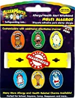 AllerMates Multi Charm Package: Multi Wristband plus Six Allergy Charms by Awearables, Inc.