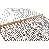 55 in. W x 82 in. L Antique Brown Rope Hammock