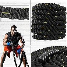 40mm poder batalla cuerdas centro superior fuerza cuerpo 9m y 15m de cuerda de fitness Bootcamp gimnasio en casa ejercicio
