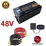5000W Pure Sine Wave Power Inverter with 4 AC Outlets and Led Display DC 48V to AC 110V DC Car Inverter for RV, Home, Car Use - Peak 10000W,48V (Color: 48V)