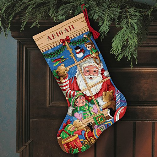 Dimensions Santa's Toy Stockings Cross Stitch Kit