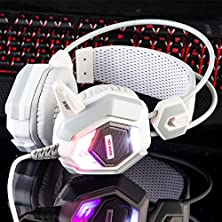 buy Nubwo No-5000 Over Ear Suspended Beam Shines Headphone With Microphone (White)