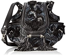 Mary Frances Leather and Lace Cross Body, Multi, One Size
