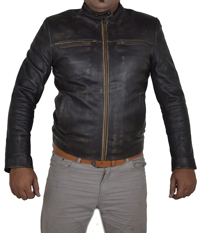 Hunger Games Wes Bentley Distress Brown Vintage Cowhide Leather Jacket günstig online kaufen