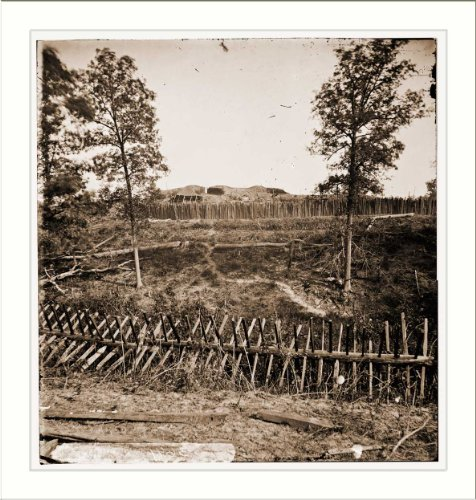 Civil War Photo (M): Atlanta Georgia. Confederate fortifications