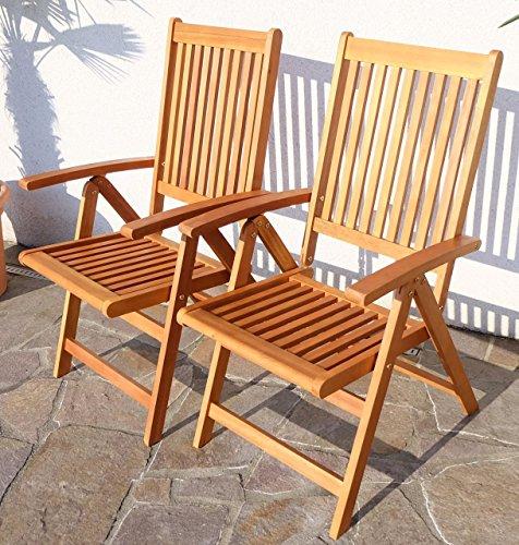 2x-Design-Hochlehner-Klappstuhl-Klappsessel-Gartensessel-Gartenstuhl-Sessel-Holzsessel-Gartenmbel-7-fach-verstellbar-Holz-Eukalyptus-gelt-Modell-LIMA-von-AS-S