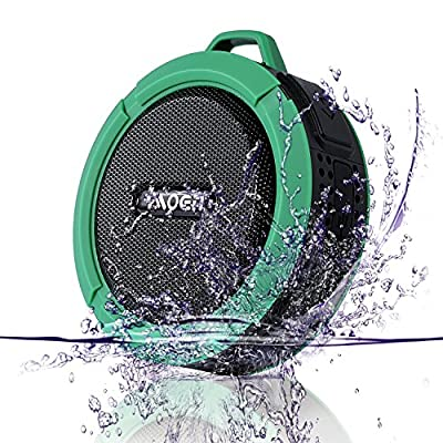 [Outdoor&Shower Speaker Include 2GB TF Card] Moen Waterproof Portable Wireless Bluetooth Speaker 5W Driver Built-in Mic Handsfree Calls