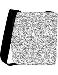 Snoogg Abstract Black And White Design Designer Womens Carry Around Cross Body Tote Handbag Sling Bags
