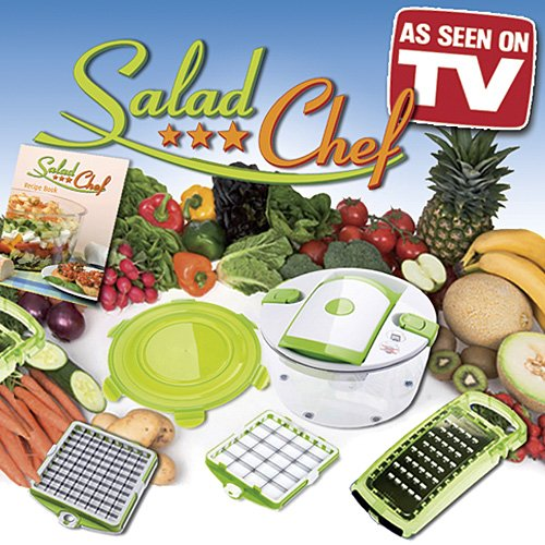 7 Piece Salad Chef Set - As Seen on TV product - Fastest Salad Making System in the World