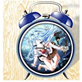 XINGQU Denpa Onna to Seishun Otoko Anime Colorful Design Twin Bell Alarm Clock, Blue