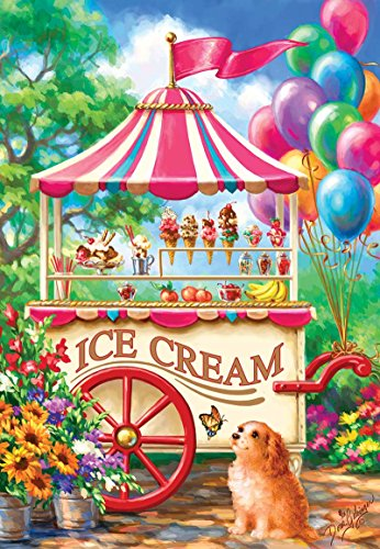 Ice Cream Cart a 100-Piece Jigsaw Puzzle by Sunsout Inc.